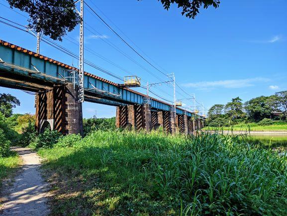 乙川沿いの鉄橋