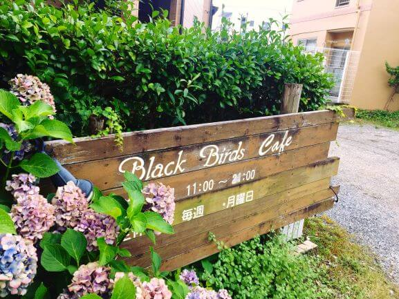 BlackBirdsCafeの看板