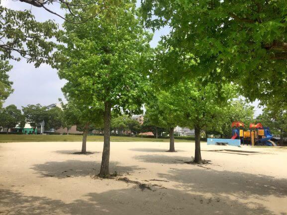 暁公園の遊具