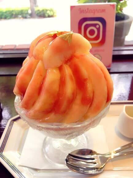 アルピーノの白桃かき氷