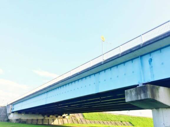 矢作川に架かる渡橋