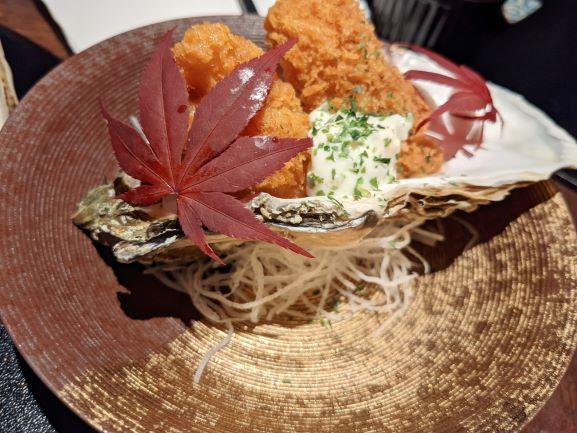 近代和食 牡蠣 しみずのカキフライ