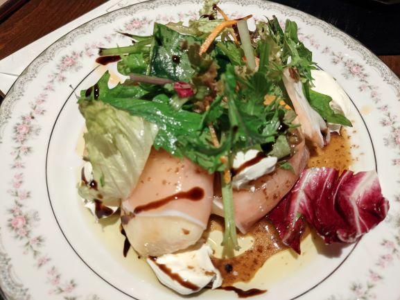近代和食 牡蠣 しみずの桃生ハム